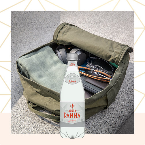 Acqua Panna 50 cl Plastic Bottle and Purse