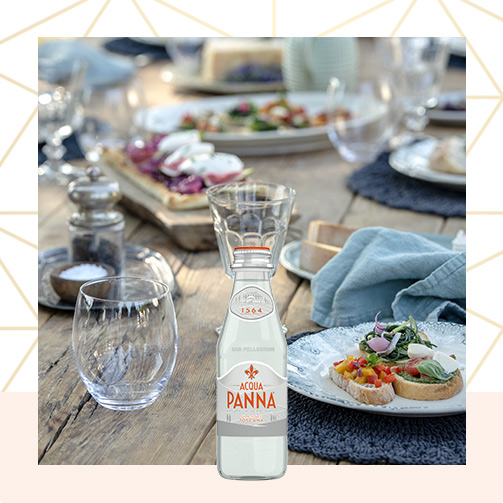 Acqua Panna 25 cl Glass Bottle and Light Meal