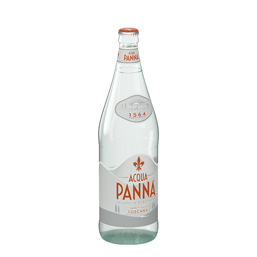 Acqua Panna 1 L Glass Bottle Side