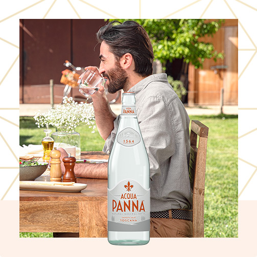 50 cl water glass bottle square