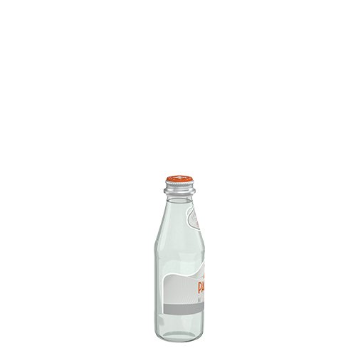 قنينة زجاج من اكوا بانا من حجم 25 سل الجانب