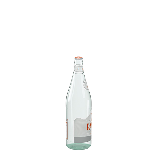 قنينة زجاج من اكوا بانا من حجم 50 سل الجانب