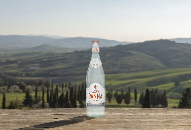 Best of Tuscany, Acqua Panna glass bottle