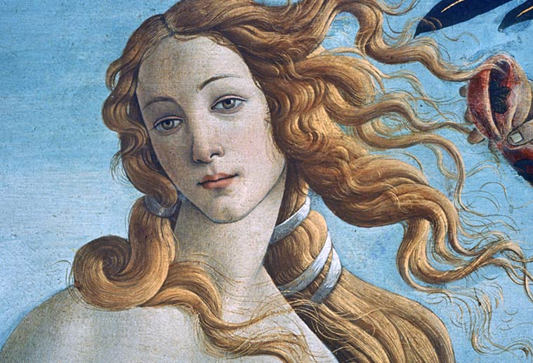 Artwork of Venus by Botticelli