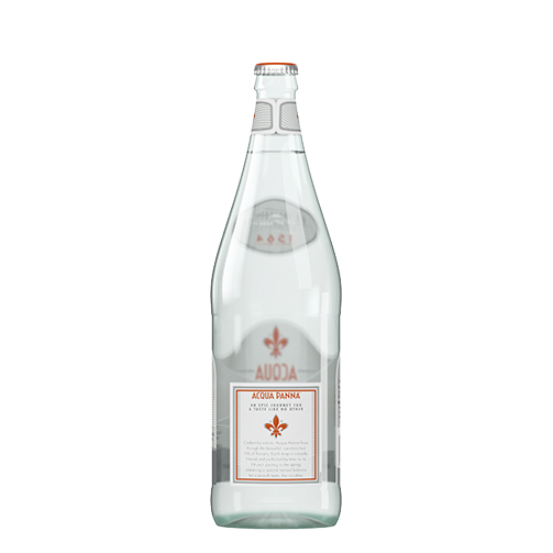 Acqua Panna 1 L Glass Bottle Back