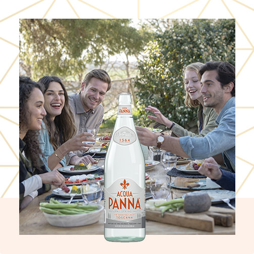 Acqua Panna 50 cl Glass Bottle and Friends Meal