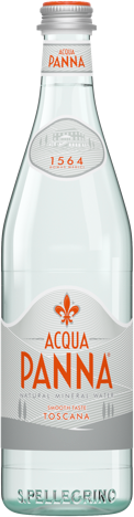 Glass Bottle Acqua Panna Natural Mineral Water