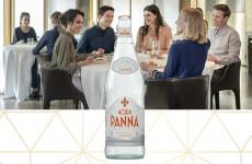 Acqua Panna 1 L Glass Bottle and Friends at Table Carousel