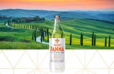 green tuscan hills - acqua panna 750 ml plastic water bottle details